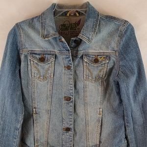 Hollister Surf 1972 Jean Jacket Juniors Size M